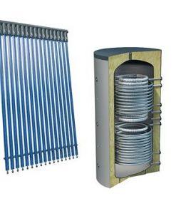 Solarpakket 4flex 70 buizen 800 liter verswater platdak 2 warmtewisselaars