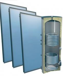 Solarpakket 4plus® 3 collectoren 400 l verswater platdak 1 buiswarmtewisselaar