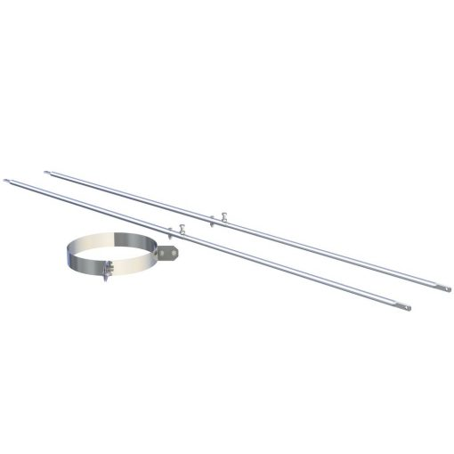 2-punt spananker RVS Ø 150 mm verstelbaar tot 2000 mm