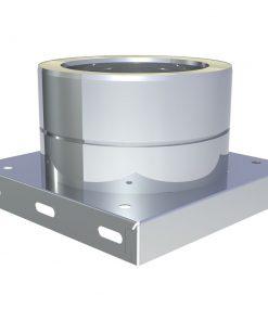 Basisplaat RVS Ø 180 mm met condensaatafvoer onder