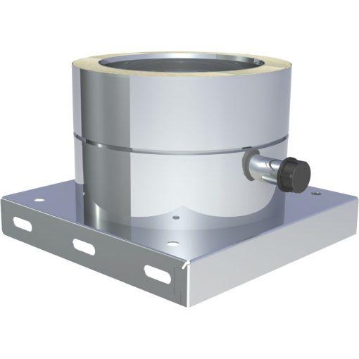 Basisplaat RVS met zijwaartse condensaatafvoer
