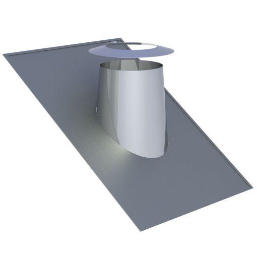 Dakdoorvoer Ø 150 mm 26-35° met loodrand DWECO38150