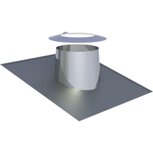 Dakdoorvoer RVS 5-15° Ø 150 mm