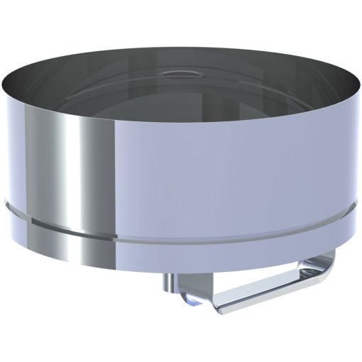 Roetpot RVS afneembaar met condensaatafvoer Ø 150 mm