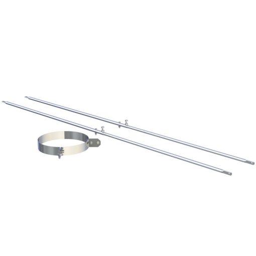 2-punt spananker RVS Ø 150 mm verstelbaar tot 3000 mm