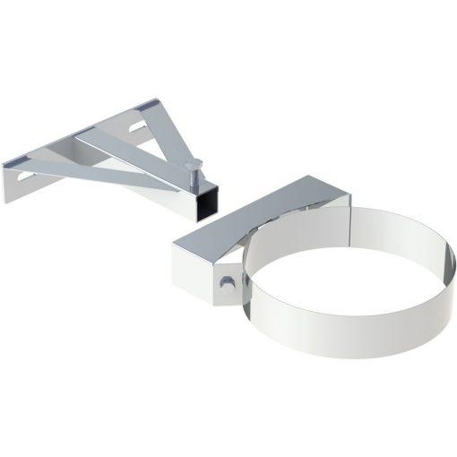 Wand- en bovendeel RVS voor wandafstandhouder vanaf 250 mm