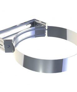 Wand- en plafondafstandhouder RVS Ø 180 mm verstelbaar 50-70 mm