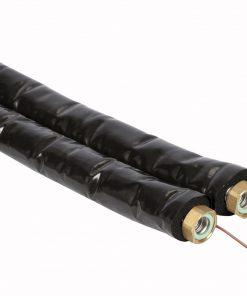 Dubbele RVS ribbelbuis DN20 met 13 mm isolatie