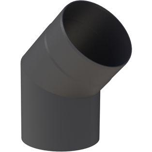 Kachelpijp zwart 30° Uitvoering
