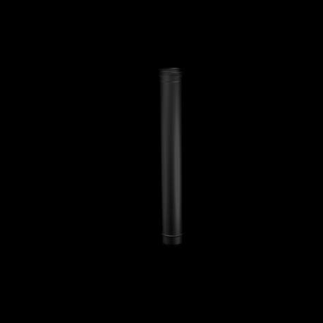 Pelletkachel rookkanaal zwart RVS lengte pijp
