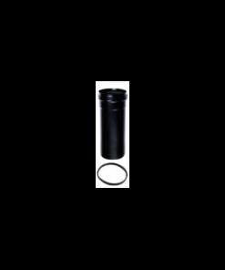 Pelletkachel rookkanaal zwart, telescoopelement 300mm, diameter Ø80mm.